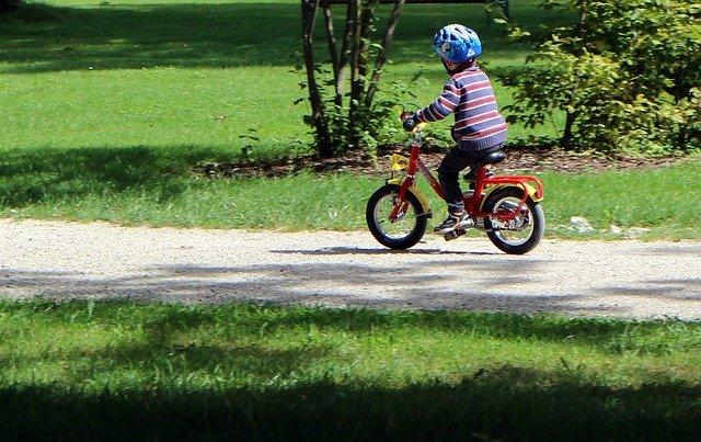 malý cyklista